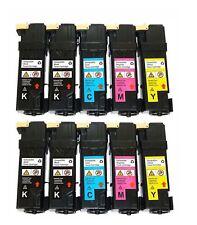 10-Pack/Pk Toner Cartridge Color Set for Dell 2150 2150CN 2150CDN 2155CN 2155CDN