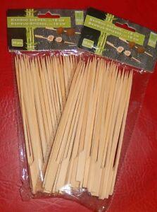 100 Bambusspieße - Holzspieße - Schaschlikspieße - Party - Grillspieße - 18 cm
