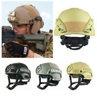 Tactical Paintball Airsoft Military Field SWAT Protective Fast Helmet & Goggle
