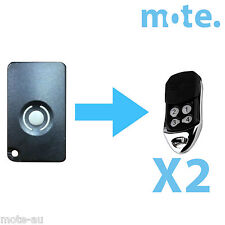 2 x Homentry Home Entry HE60 HE60R HE4331 HE60ANZ Compatible Garage Remote