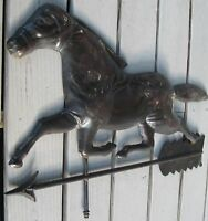 TIN HORSE WEATHERVANE ON ARROW SARATOGA SPRINGS NY FIND, NICE LOOK