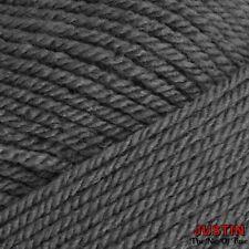 L50 Cygnet DK Acrylic Yarn Charcoal Grey Double Knitting 10 X 100g Balls 1kg