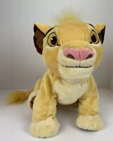"Disney Parks Simba Plush Animal Lion King Stuffed Toy Soft Huggable 14"" Long"