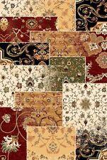 """Teppich,Design Patchwork, 200x300 cm, 6'7""""x9'10(ft), bunt, rot, beige, Wolle !!!"""