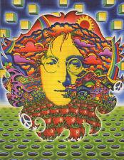Signed Blotter Art - Beatles John Lennon by Jeff Hopp