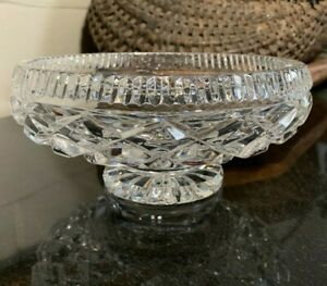 """Waterford 8"""" Footed Low Bowl Giftware Collection Gothic Mark Ireland - Excellent"""