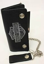 NEW Genuine Harley Davidson Bar & Shield  Wallet & Chain Biker Bike Trucker