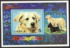 Liberia 1974 MNH MS, Kuvaszok, Dogs breed of ancient Hungarian origin (Da2)