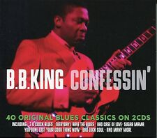B. B. KING CONFESSIN' - 2 CD BOX SET - 40 ORIGINAL BLUES CLASSICS
