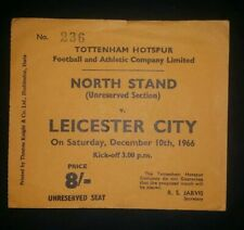 1966/67 original Division One ticket Tottenham Hotspur v Leicester City