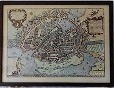 Grundriß der Edlen Stadt Hamburg 1651 - Kupferstich Faksimile - Mejer