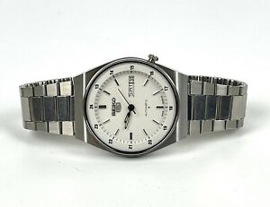 Vintage 1980s Seiko 5 Automatic Stainless Steel Men's Watch NOS 6309-602A Works