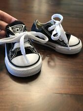 Converse Size Baby Shoes 3 Infant black unisex lace up toddler white all star