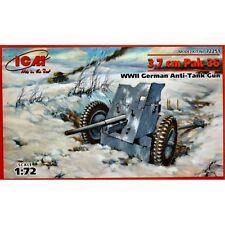 ICM 72251 3.7 cm PAK 36 tedesco ANTI TANK GUN 1/72 Kit Modellino in scala in plastica