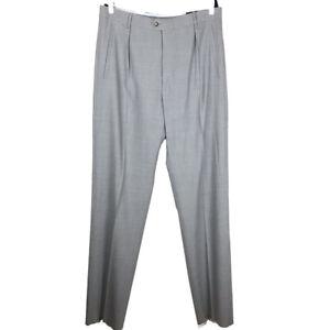 Callaway Golf Golfer Chino Khaki Pants Gray Wool Mens Size 36 Unhemmed
