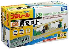 TAKARA TOMY PLARAIL J-28 PLA KIDS TRAIN STATION SET NEW from Japan F/S
