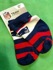 M439/40 NFL New England Patriots Baby Socks Shoe Size 0-3 NWT
