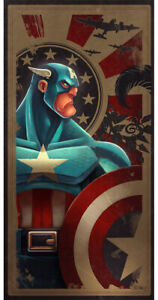 Captain America -Action Poster- Movies Poster-Poster Print