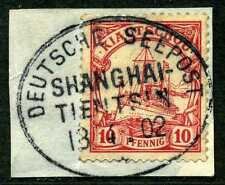 Kiautschou Mi 7  Briefstück  Seepost  Shanghai-Tientsin  *