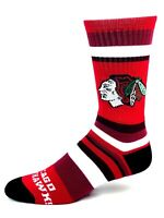 Chicago Blackhawks For Bare Feet Red Rainbow Stripe Crew Socks