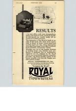 1923 PAPER AD Typewriter Royal Insurance Company North America Philadelphia