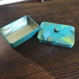 Sarah Miller Pocket Tin, 11x7.5x2.5cms, Toucan
