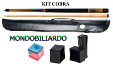 KIT STECCA DA BILIARDO COBRA 205 - CALCIO + PUNTALE - POOL 8-15 - PUNTA 13mm