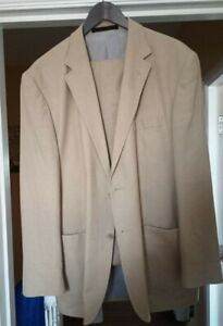 Marks And Spencer Linen Blend Suit 42 Inch Chest 38 Inch Waist