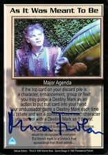 Babylon 5 Ccg Mira Furlan Deluxe Edition As It Was Meant To Be Autographed