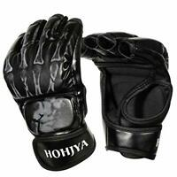 Mixed Martial Arts Support - MMA Training Gloves Half Finger Boxing Fight Mitts