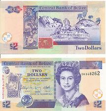 Belize - 2 Dollars 2011 UNC - Pick 66d