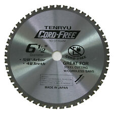 Tenryu CF-16548M 6-1/2-Inch 48T MTCG Circular Metal Saw Blade, 5/8-inch Arbor