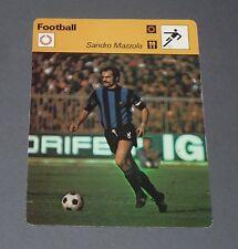 FICHE FOOTBALL SANDRO MAZZOLA INTER MILANO NERAZZURRI CALCIO ITALIA