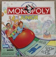 Monopoly Jr Junior Board Game Hasbro Parker Brothers 1999 Edition, rare
