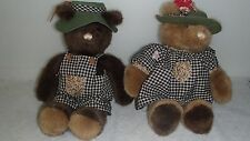 2 BEAR TAILS BY GUND,1985,  AGES 3+