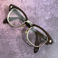 Vintage American Optical Horn Rim Glasses 1950s AO Logo Prescrip 45-18-140