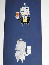 COGNAC MARTELL Projet Porte-clés Publicitaire DESSIN GOUACHE ORIGINALE ~1960