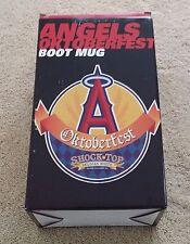 Glass Boot Anaheim Angels Shock Top Belgian Beer in Box Bar