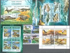 Coccodrilli -25 tutti diversi COLLEZIONE DI FRANCOBOLLI-animali selvatici