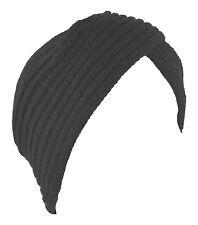 Turban Hat Head Cover Winter Knit Hat Beanie Black