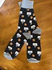 Basketball Game Dress Socks Novelty Men 8-12 Black Fun Sockfly