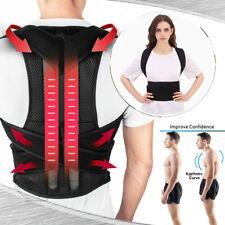 Adjustable Women Men X Low Back Posture Shoulder Corrector Support Brace Belt US