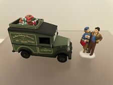 """Dept 56 Heritage Village Collection """"Village Express Van"""" And """"City Shopping"""""""