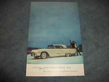 """1959 Ford Thunderbird Vintage Ad """"The Car Everyone Would Love to Own"""""""