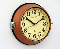 Vintage Copper Original Slave Clocks Nautical Maritime Ship Seiko Quartz Japan