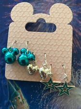 DISNEY Parks MICKEY MOUSE  Icon - Heart - Stars Wired Earrings  NEW Set Of 3