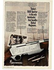 1978 BROWNING BAR Sporter Rifle Autoloader VTG PRINT AD