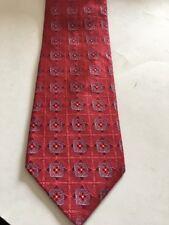 Luxurious Ike Behar Designer Thick Woven 100% Silk Neck Tie Red Blue