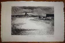 Luc Gerbier gravure originale signée numérotée les marais du roy paysage