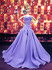 Eaki Lavender Chiffon Silkstone Barbie Fashion Royalty Evening Dress Outfit Gown